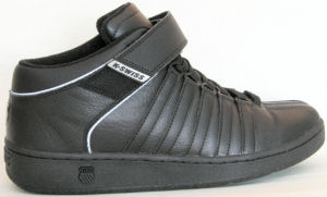 "K-Swiss ""Classic Luxury Edition"" mid-top sneaker (nearly all black)"