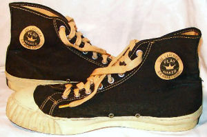 "Black ""Joe Lapchick Play Maker"" high-top sneakers"