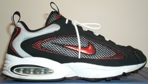 Nike Air Max Later II, running-training shoe; black, red, and white