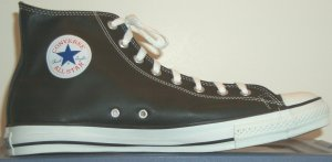 "Leather Converse ""Chuck Taylor"" All Star sneaker (black leather high-top)"
