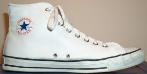 "Leather Converse ""Chuck Taylor"" All Star sneaker (white glove leather high-top)"