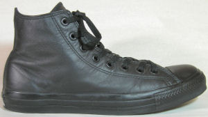 "Leather Converse ""Chuck Taylor"" All Star high-top sneaker, all-black"