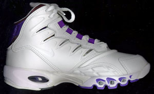 Nike Air Max Pulse aerobic shoe: white and purple high-top