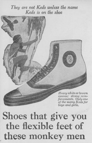 1922 high-top Keds as advertised in St. Nicholas Magazine