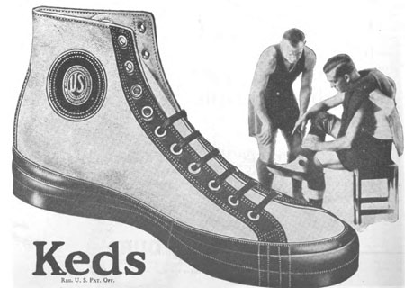 "1922 Keds ""Comet"" high-top basketball shoe"