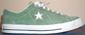 Converse One Star sneaker in Cement with white star