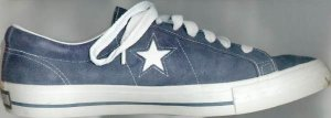 Converse One Star sneaker in dark blue with white star