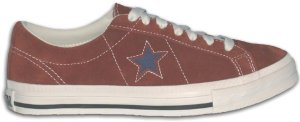 Converse One Star sneaker in rust with black star