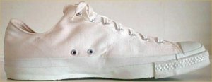 White United States Army surplus PF Industries low-top sneakers