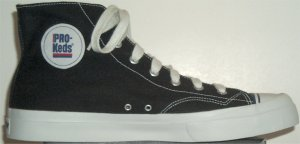 PRO-Keds black canvas high-top basketball shoe