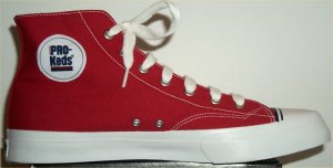 PRO-Keds Royal Hi-Cut shoe in red canvas