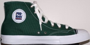 "PRO-Keds ""Royal Canvas"" high-top basketball shoe in Bottle Green"