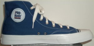 PRO-Keds Royal Canvas high-top basketball shoe in blue