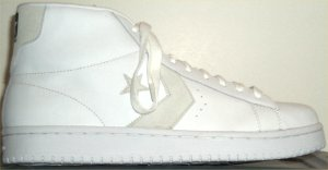 Converse Dr. J Classic high-top; white with natural trim