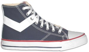 "Pony ""All American High"" black canvas high-top sneaker"
