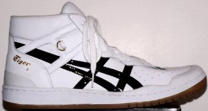 "ASICS ""Onitsuka Tiger"" Pro Gold 83 (reissue of 1983 design) in white with black trim"