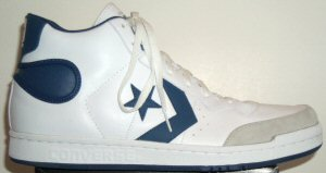 Converse Pro Star high-top basketball sneaker in white with blue trim