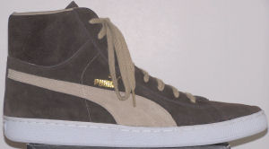 Puma Suede Mid sneaker, coffee suede with sesame formstrip