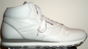 Reebok Classic Leather Mid sneaker (white, gray trim)