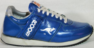 "KangaROOS ""Combat Jogger"" in blue patent leather and silver trim"