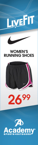 Running shorts advertised as running shoes