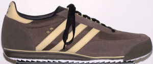 The adidas SL76 shoe in Coffee and Saraha