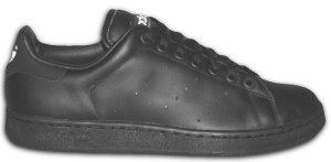 The adidas Stan Smith tennis shoe, in all-black