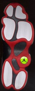 Nike Air Jordan 13 basketball shoe sole