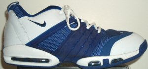 Nike Air Max So Good womens' basketball shoe: predominantly blue with white trim