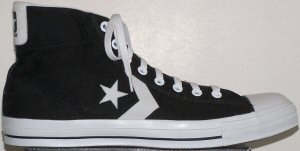 Converse Star Player Mid sneaker, black with white trim