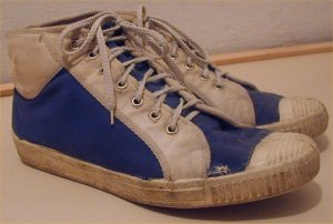 Tisza brand blue high-top sneaker from Hungary