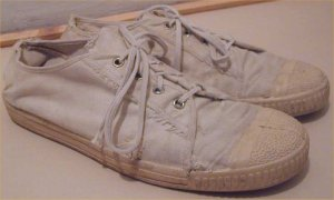 White Tisza brand low-tops from Hungary