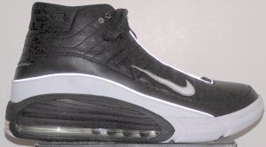 "Nike ""Air Team Super Max"" in black with white trim... Zoom Air and Max Air combined"