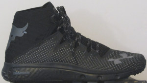 Black and gray Under Armour Project Delta sneakers