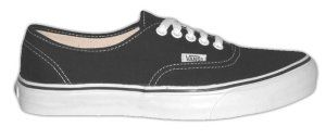 Vans Authentic Classic in black canvas