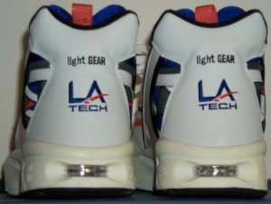 back view of a pair of LA Gear (LA Tech) light GEAR CrossRunner sneakers